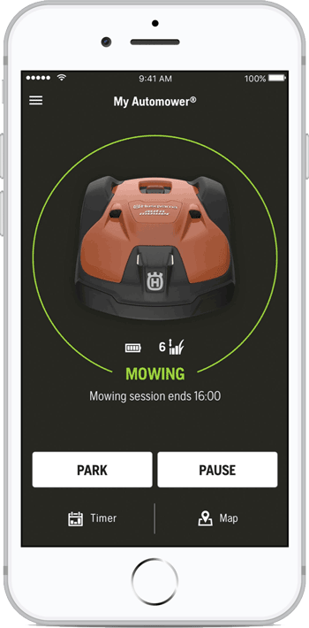 Robomower iPhone & Android controls